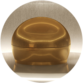 picture of gold plated float pod