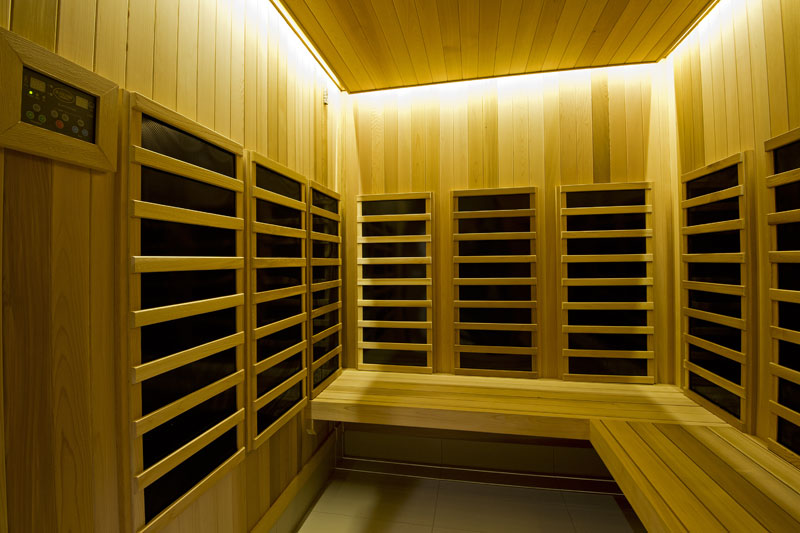 picture of the inside of infrared sauna